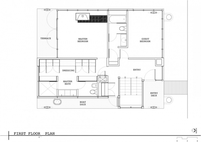 Floating House First Floor Plan