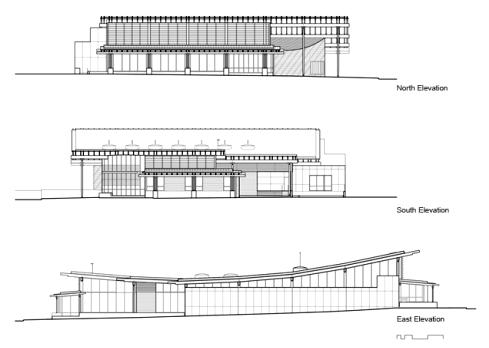 Ballard library elevations elevation drawings