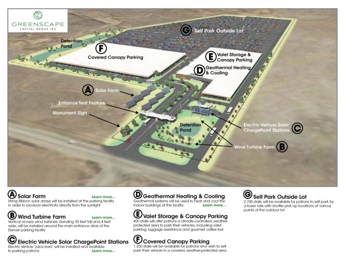 Denver Airport Green Parking Site Plan  sc 1 st  Solaripedia | Green Architecture u0026 Building | Projects in Green ... & Solaripedia | Green Architecture u0026 Building | Projects in Green ...