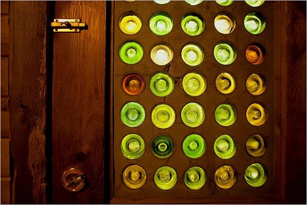 Salvaged Houses Wine Bottle Door