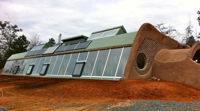 Heat Removal Earthship House Designs on
