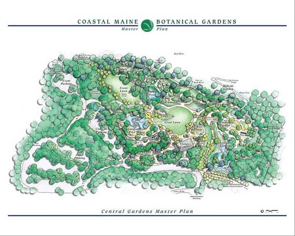 Maine Botanical Garden Map