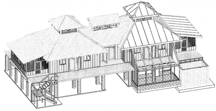 Solaripedia green architecture building projects in Autocad house drawings