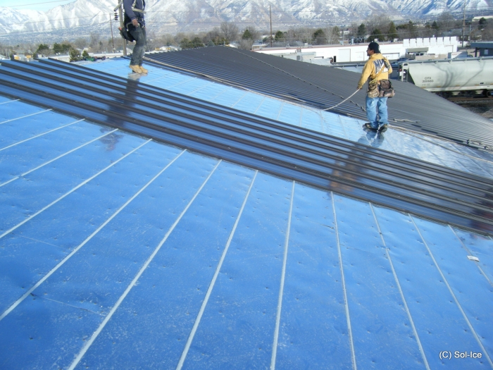 Thermal Roofing Amp This Large Gap At A Seam Is A Result Of