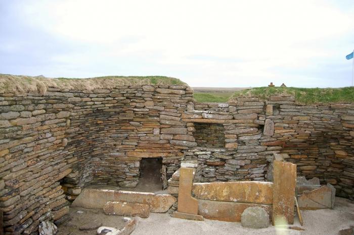 Skara Brae Stone Wall
