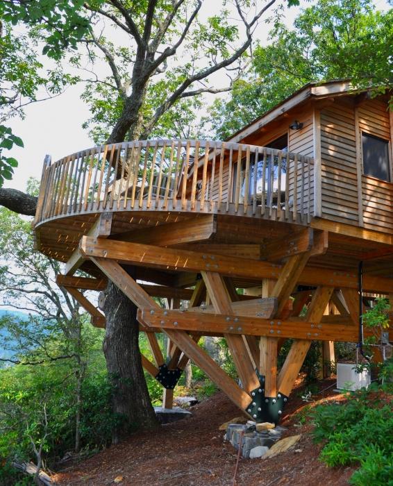 Exellent Luxury Tree House Resort Inside Design