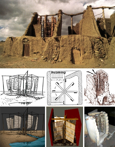 When is the first known historical use of windmills and how was it used?