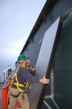 Seattle Aquarium Solar Hot Water Collector Mounting