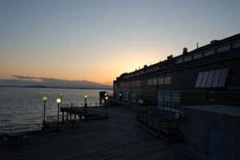 Seattle Aquarium Solar Hot Water Dusk