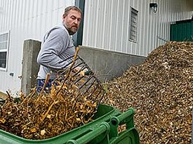 Ohio University Composter Wood Chips