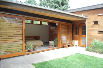 Recycled Bungalow Outdoors Bedroom