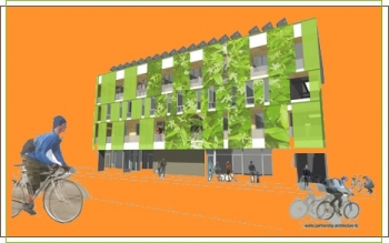 EcoFlats Apartments Orange Background
