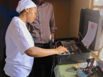 Solar Suitcase in Nigeria Clinic