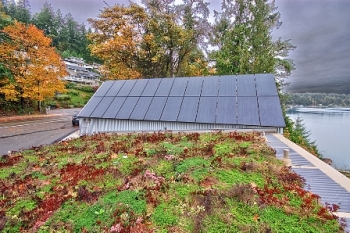 Zero Energy Idea House PV and Veg Roof