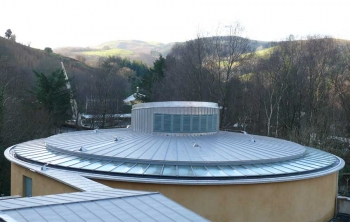 Wales Institute Auditorium Roof Side View
