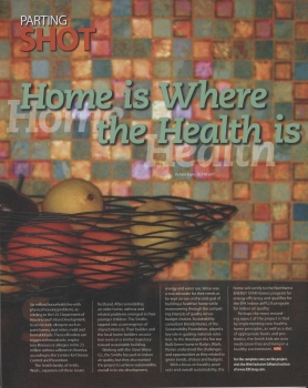 Home Is Where the Health Is Cover