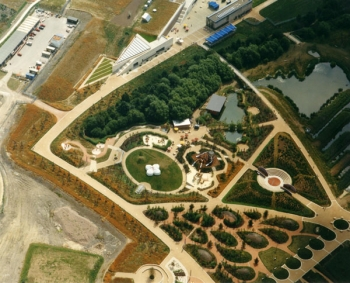 Earth Centre Aerial Ponds