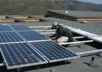 California Off Grid PV Installation