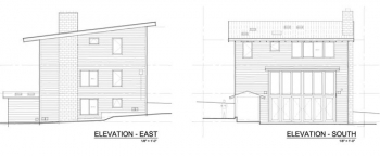 Blue House Elevations east and south
