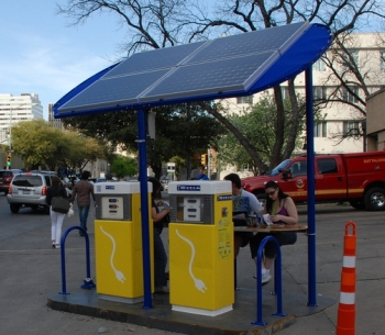 Solar Charging Station Austin Trinity Cropped
