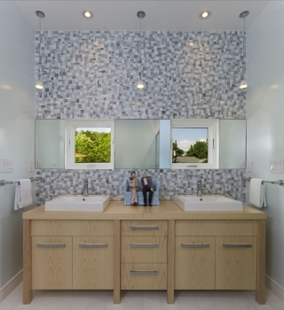 Bethesda Zero Energy Home Double Sink