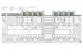 Water & Life Museums Elevation and Floor Plan