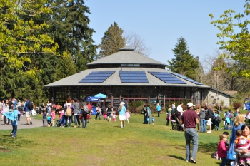 Woodland Park Zoo Solar Panels on Carousel