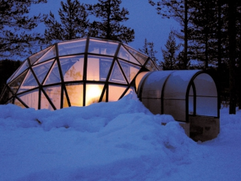 Glass Igloo in Finland