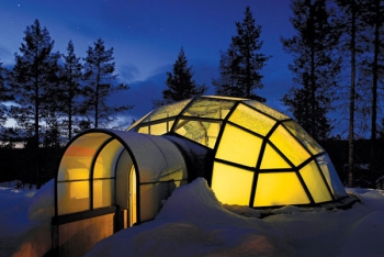 Igloo Glass Dome Night