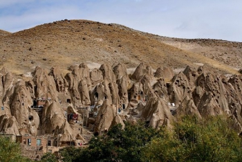 Iran Rock House Hillside