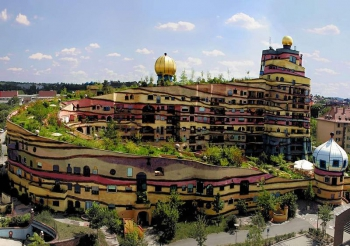 Hundertwasser Waldspirale Vegetated Roof