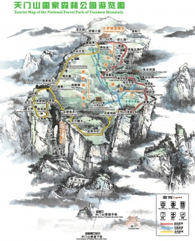 Tianmen Mountain Map