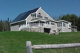 Maine Solar House Fence