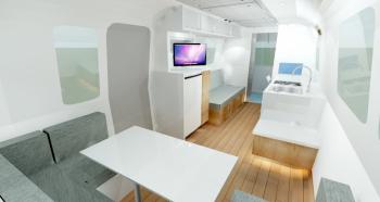 Airstream 1972 Renovation Rendering Interior