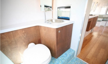 Airstream 1972 Renovation Toilet