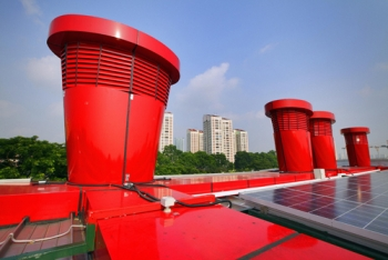 Energy Building Singapore Pictures on Solar Chimneys On Singapore S Zero Energy Building By The Building