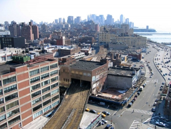 Highline Park through Building