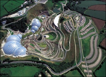 Eden project Aerial View