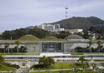 California Academy of Sciences Building View Closeup