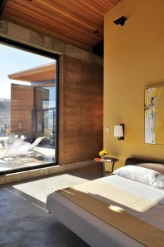 Wyoming Rammed Earth Bedroom