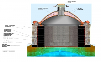 Earthship Cistern Section Diagram