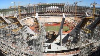 Maracana Stadium Solar in Rio under Construction