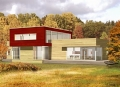 English Residence Solar House Rendering (Massachusetts, USA)
