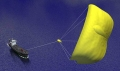 Tethered Sails Power Cargo Ships with Wind