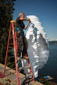 Bass Cove Zero Energy House Wind Helix Installation (Washington, USA)