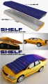 Shelf Solar Vehicle Screen Illustration