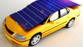 Shelf Solar Panels Extended over Car