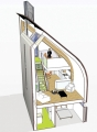 Lighthouse Zero Energy House Cutaway Illustration2