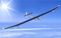 Solar Impulse Airplane Prototype in Air 2010