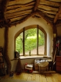 Woodland Home in Wales Inside Window